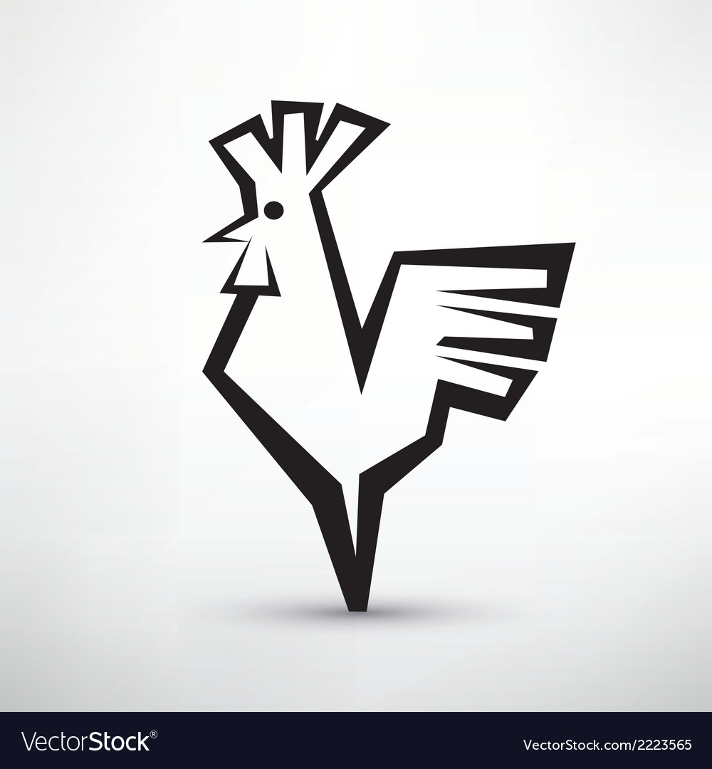 Cock symbol stylized icon vector | Price: 1 Credit (USD $1)