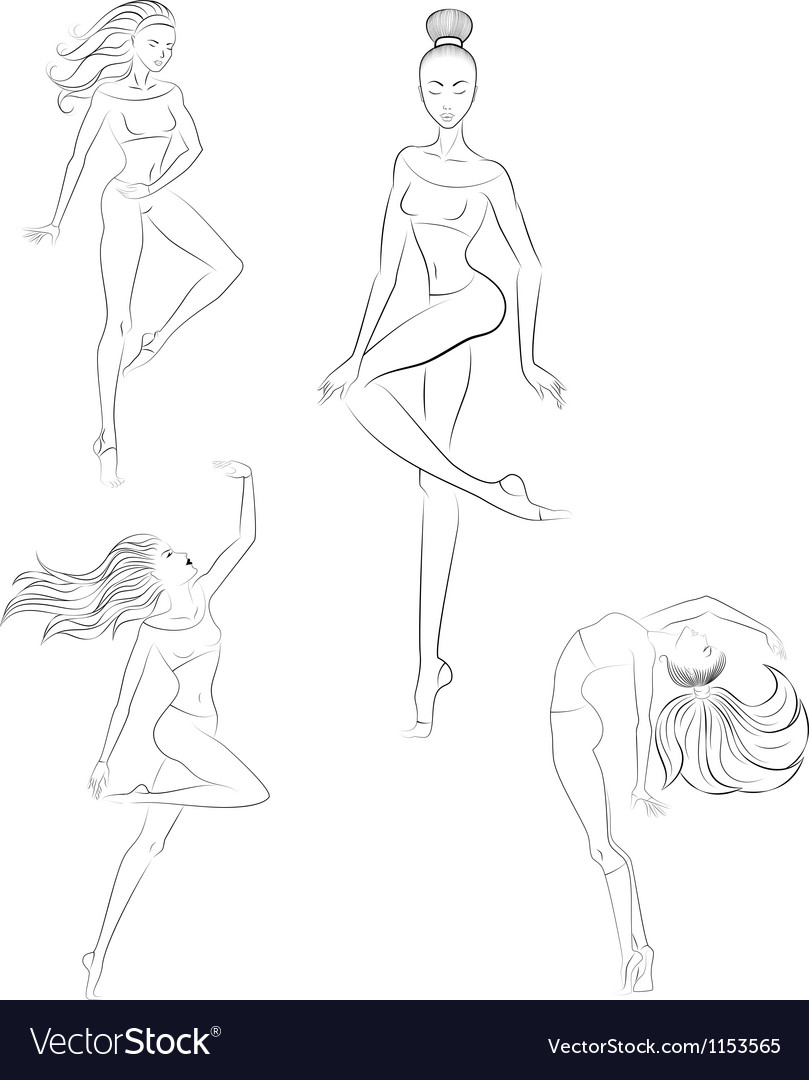 Contemporary dance vector | Price: 1 Credit (USD $1)