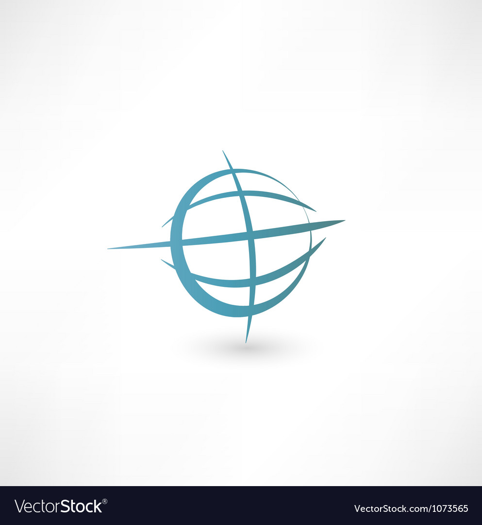 Planet earth icon vector | Price: 1 Credit (USD $1)