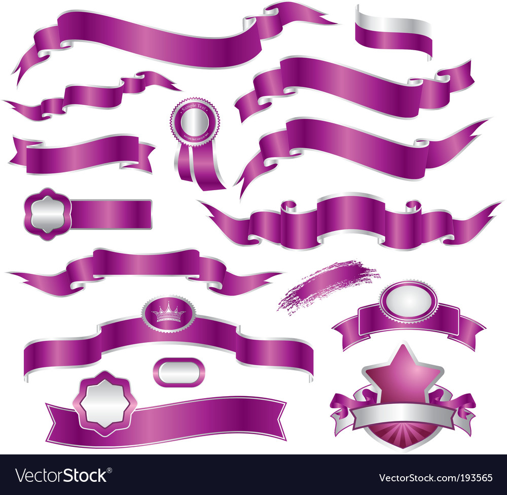 Set of ribbons vector | Price: 1 Credit (USD $1)