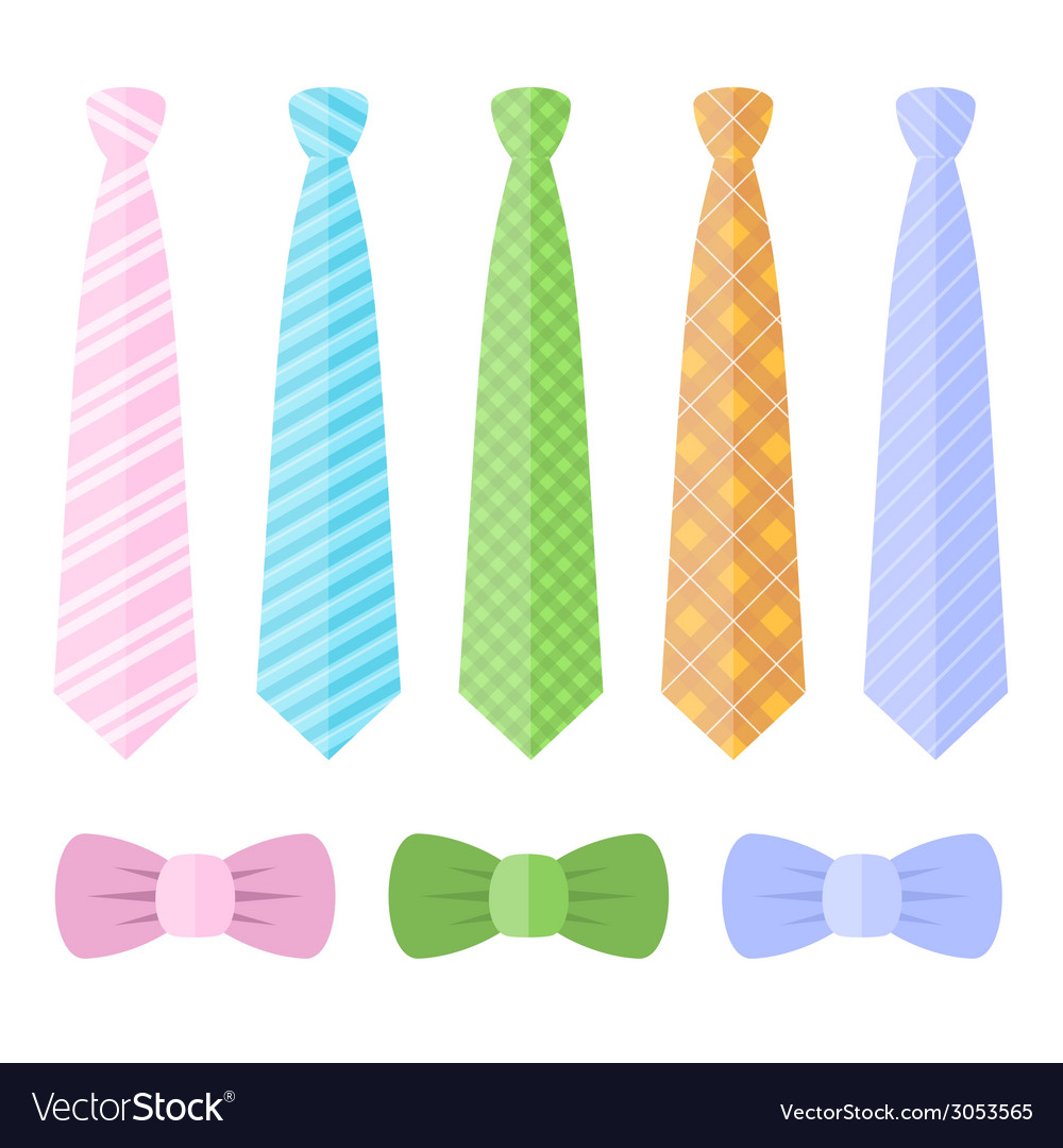 Set of ties and bow ties vector | Price: 1 Credit (USD $1)