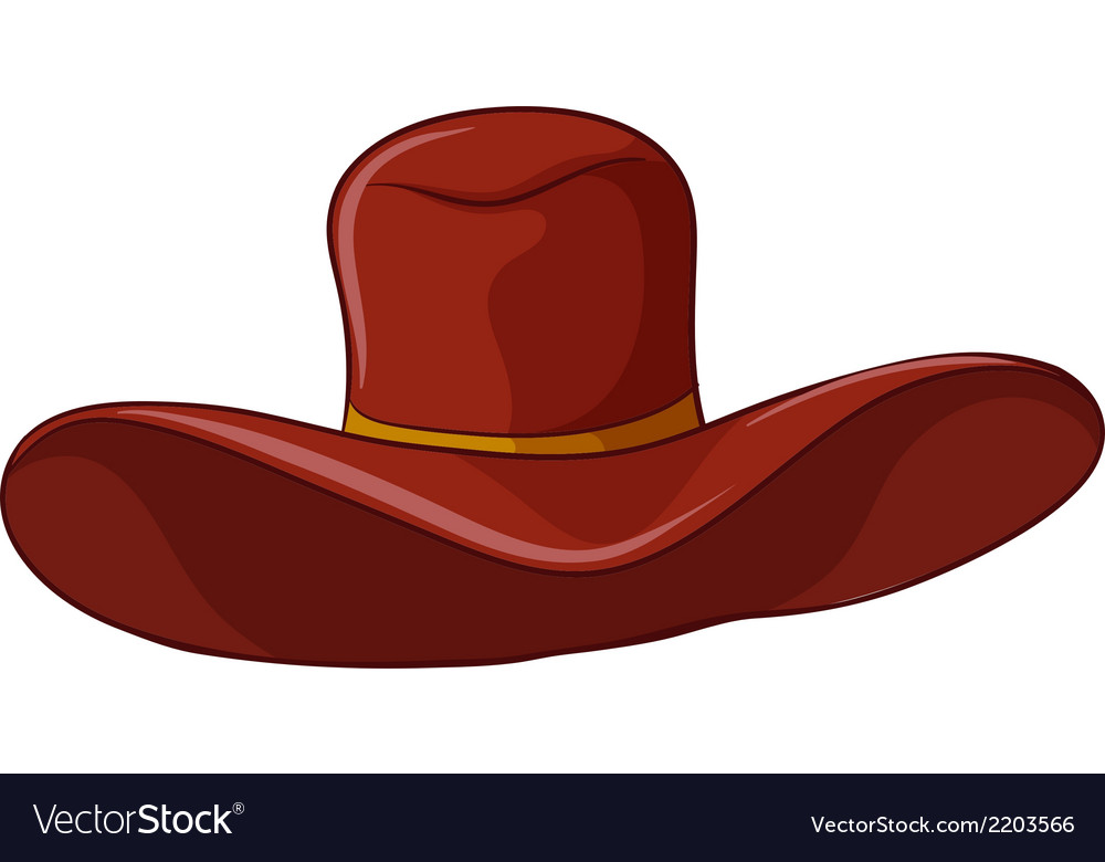 A brown hat vector | Price: 1 Credit (USD $1)