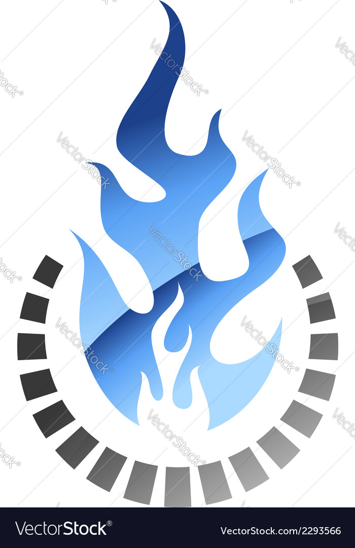 Blue colored gas flame vector | Price: 1 Credit (USD $1)