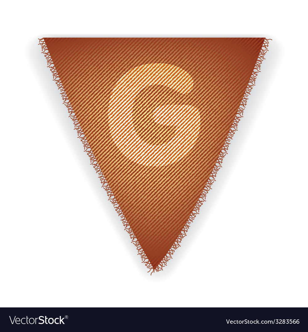 Bunting flag letter g vector | Price: 1 Credit (USD $1)
