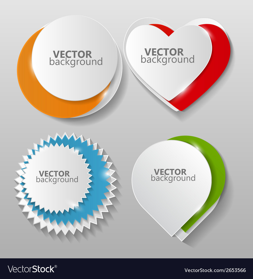 Collection of origami banners template vector | Price: 1 Credit (USD $1)