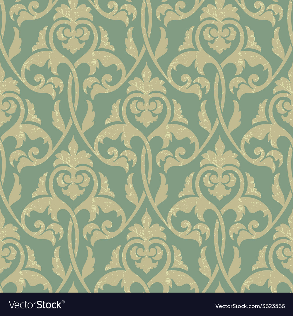 Damask seamless pattern background elegant luxury vector | Price: 1 Credit (USD $1)
