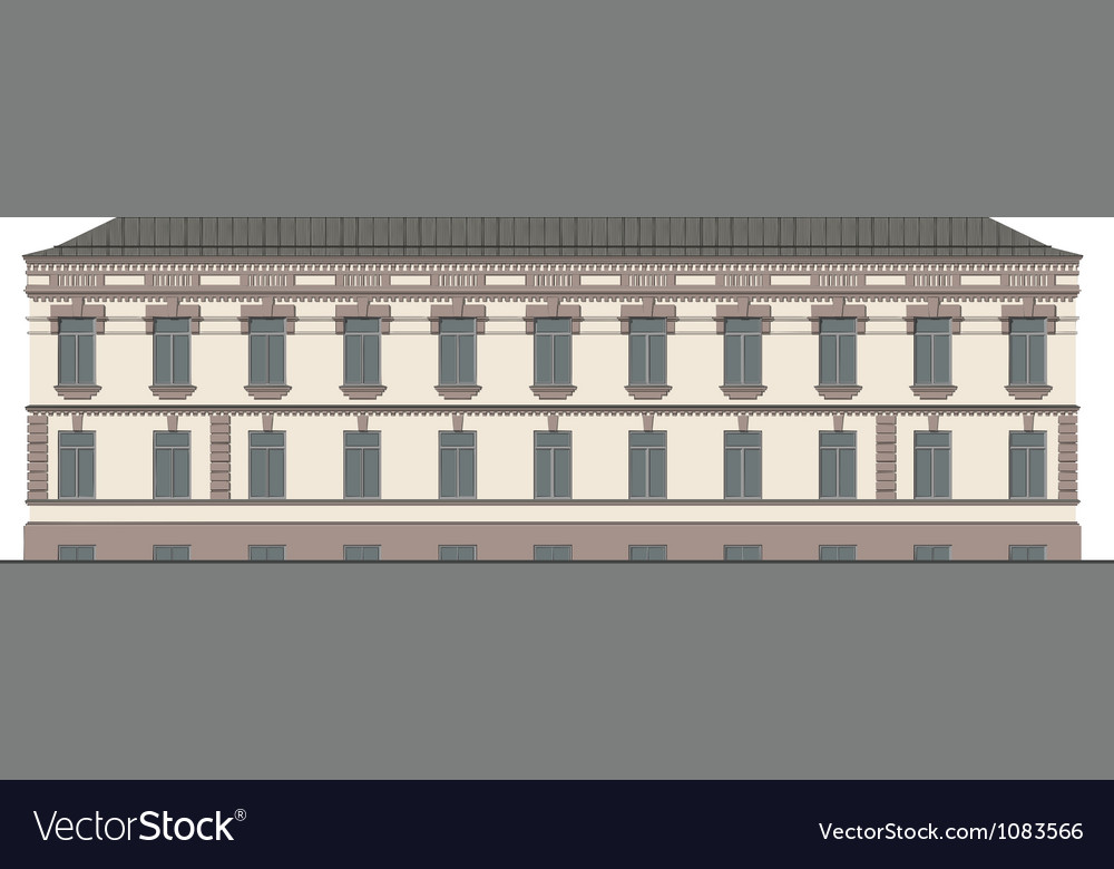 The facade of the building vector | Price: 3 Credit (USD $3)