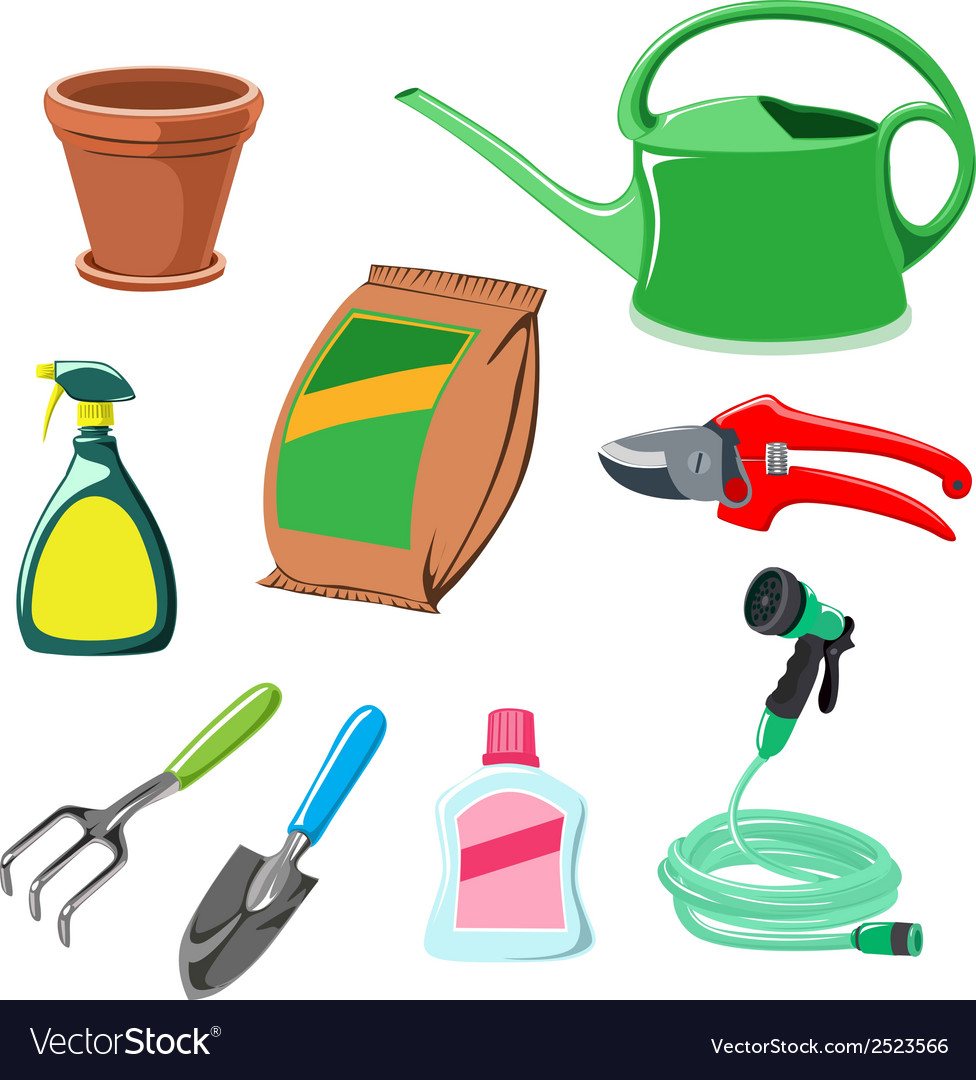 Gardening equipment vector | Price: 1 Credit (USD $1)