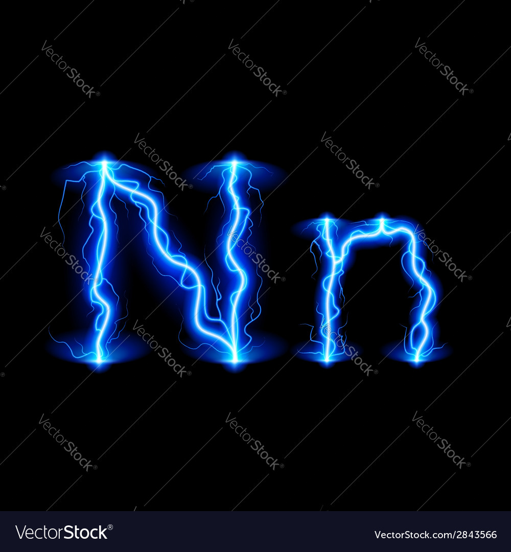 High voltage font vector