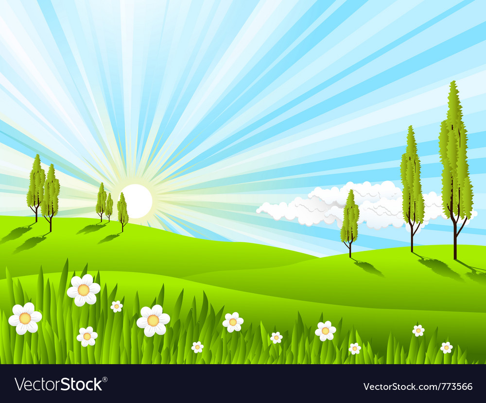 Landscape fields vector | Price: 3 Credit (USD $3)