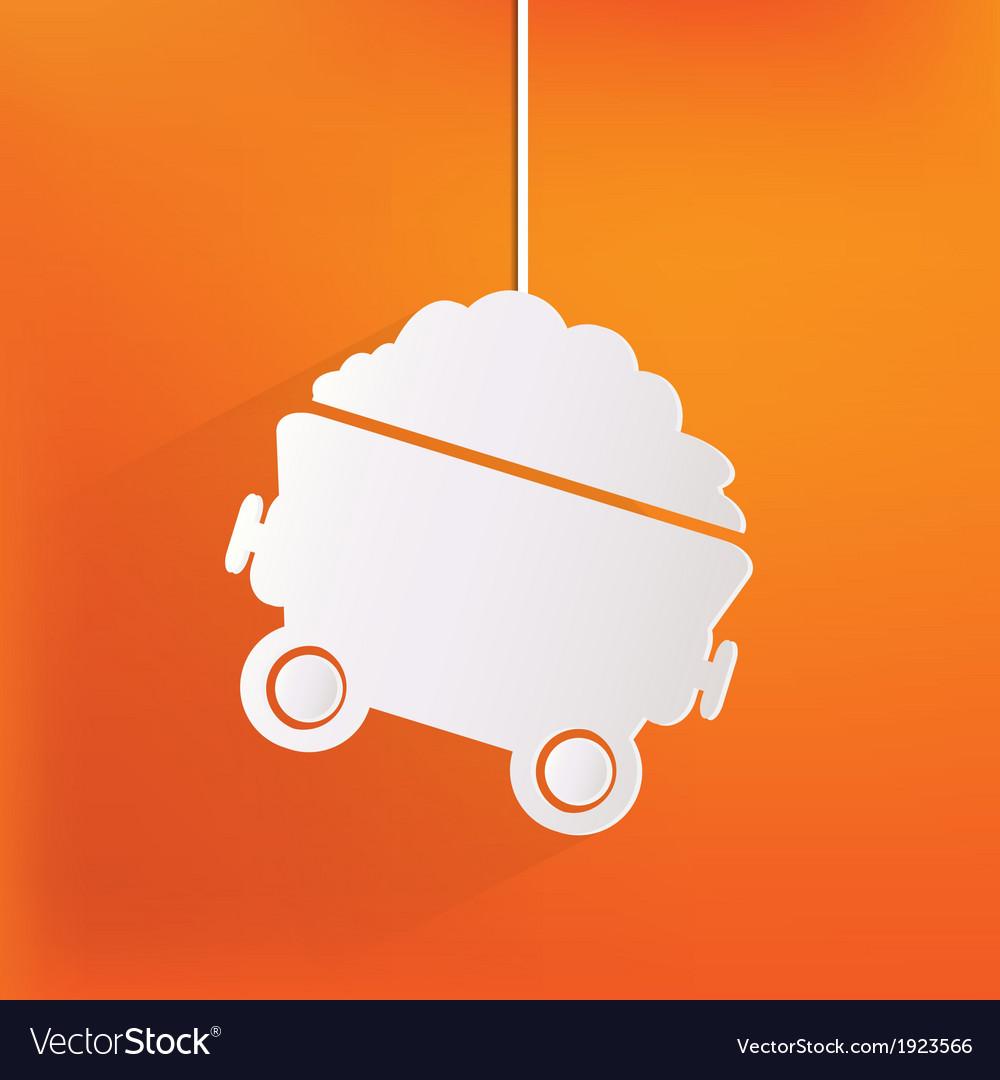 Mining coal cart icon vector | Price: 1 Credit (USD $1)