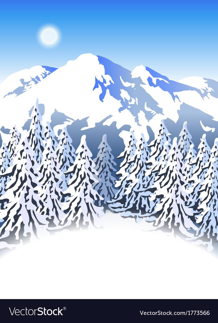 Mountain ski resort vector   Price: 3 Credit (USD $3)