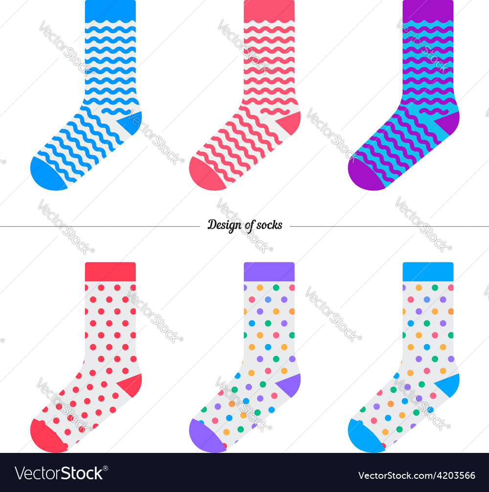 Set of socks with the original design vector | Price: 1 Credit (USD $1)