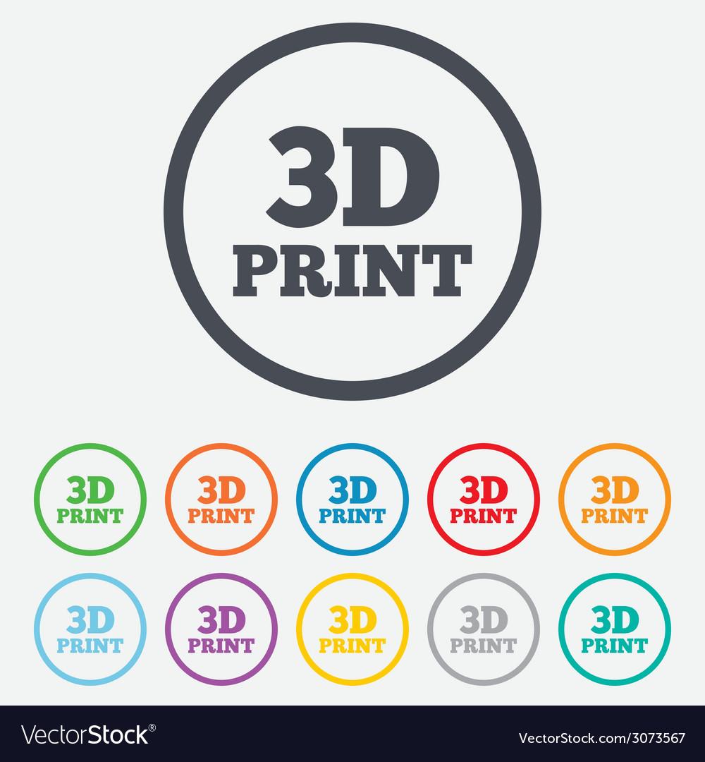 3d print sign icon 3d printing symbol vector   Price: 1 Credit (USD $1)