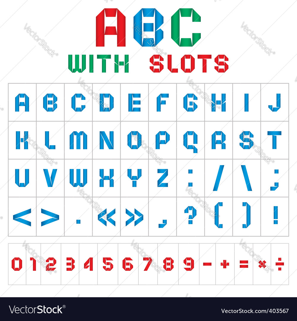 Abc font vector | Price: 3 Credit (USD $3)