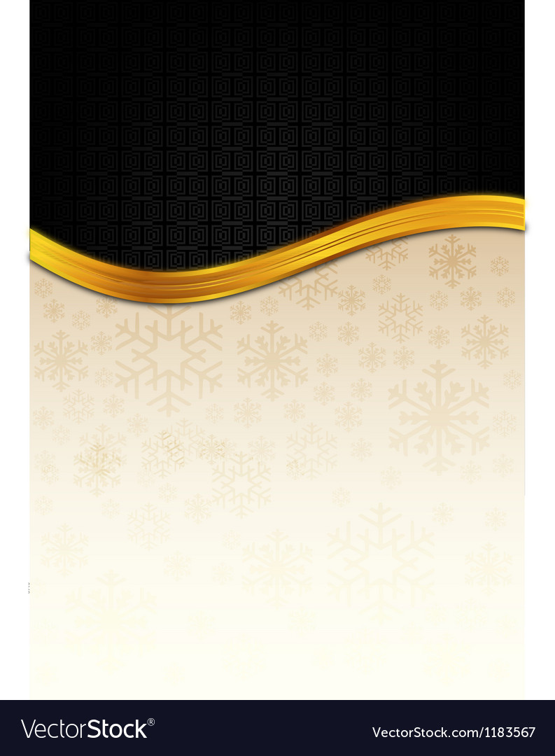 The black celebration paper with golden stripe vector | Price: 1 Credit (USD $1)