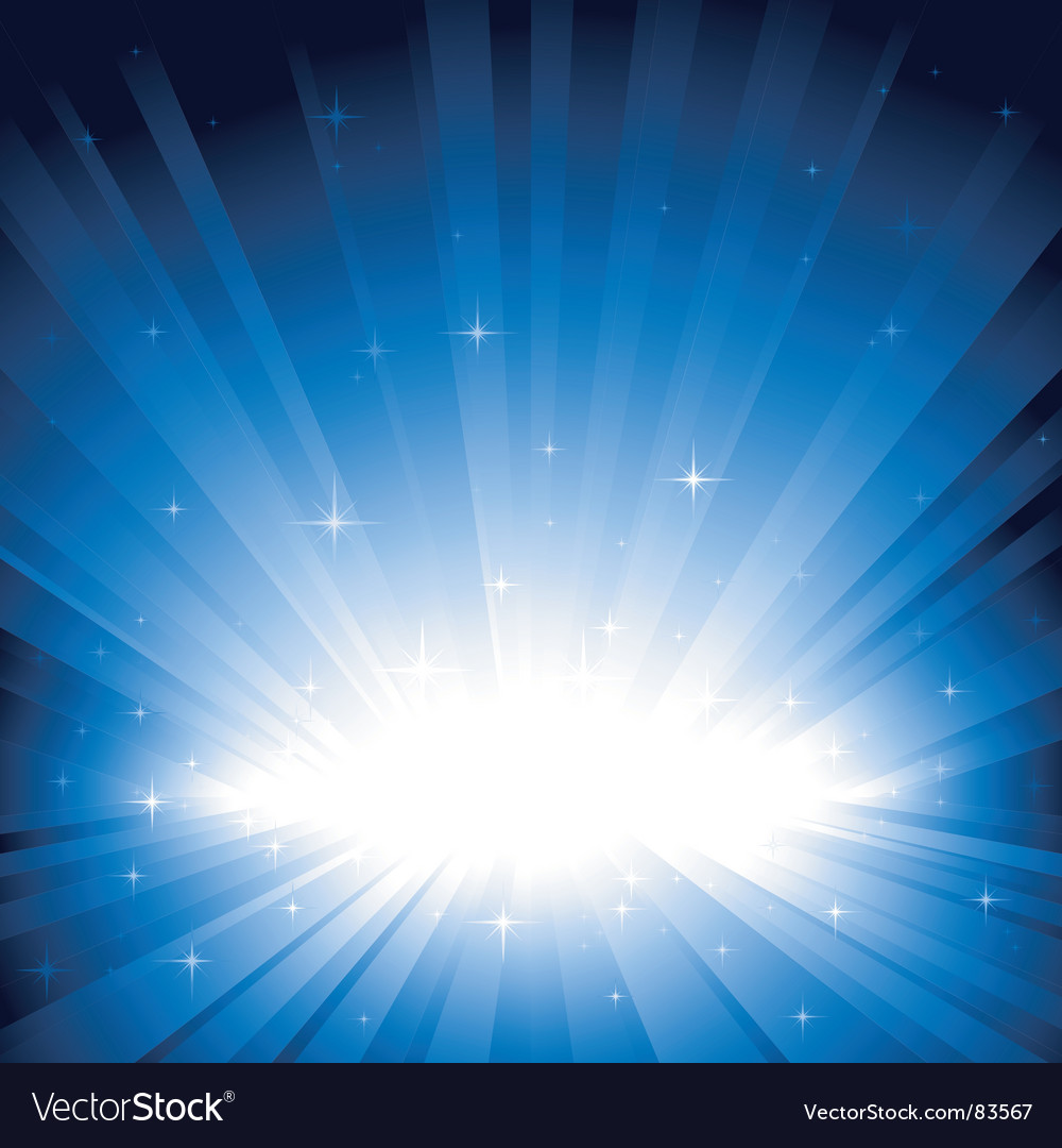 Blue light burst with stars vector | Price: 1 Credit (USD $1)