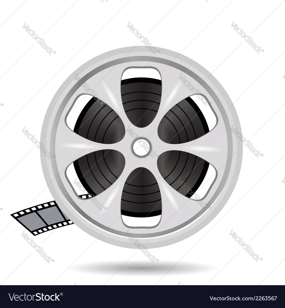 Cinema film tape on disc vector | Price: 1 Credit (USD $1)