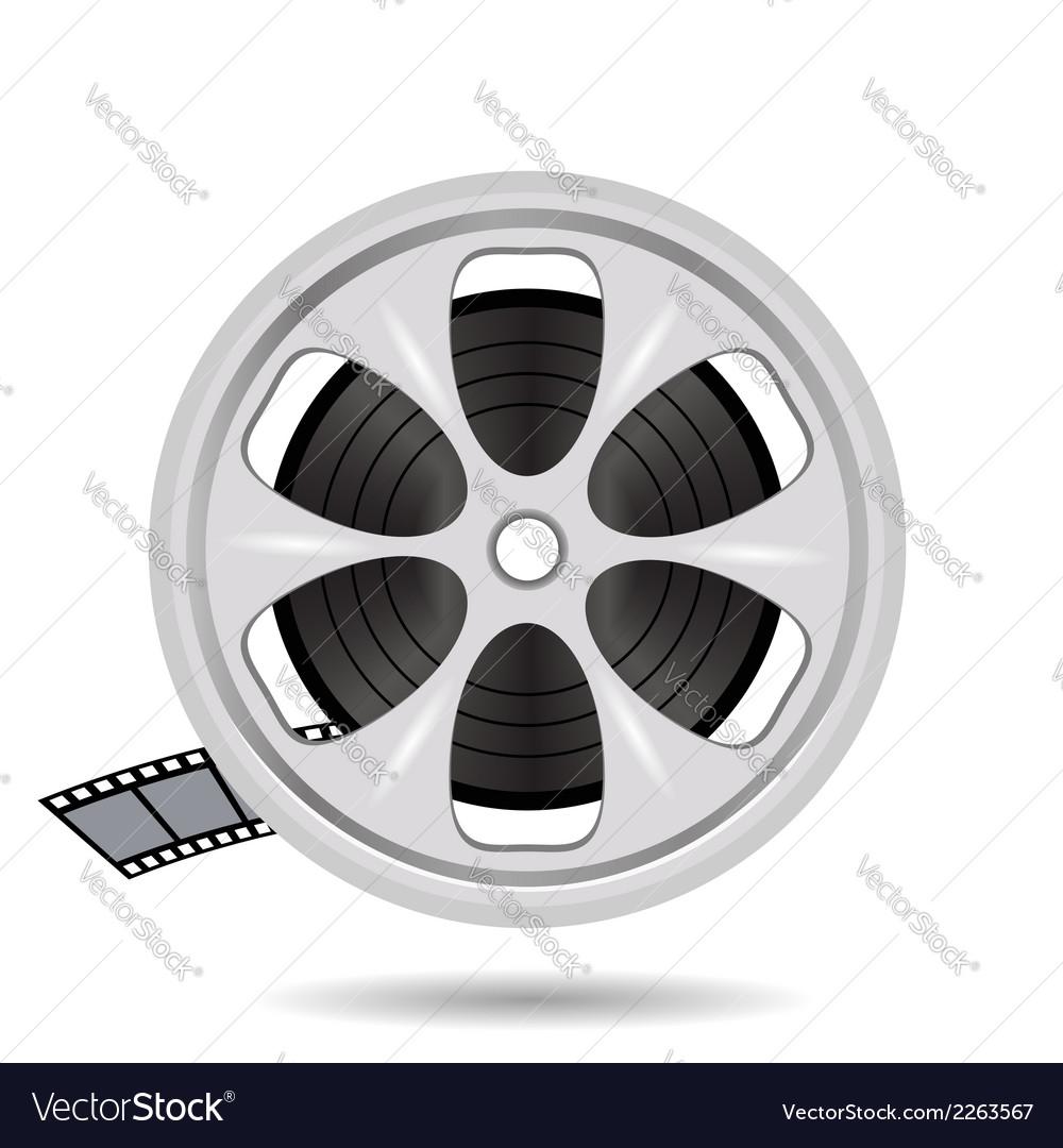Cinema film tape on disc vector | Price: 1 Credit (USD $1)