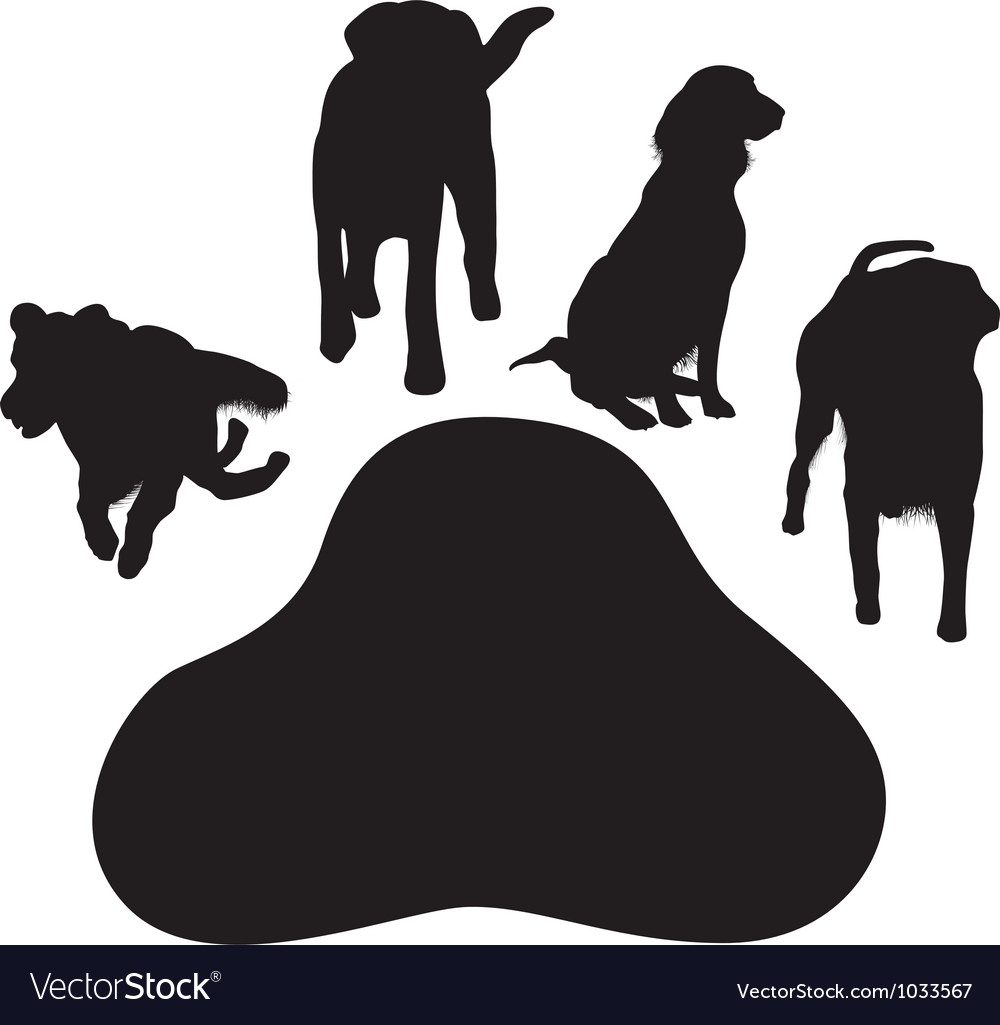 Dog paw vector | Price: 1 Credit (USD $1)