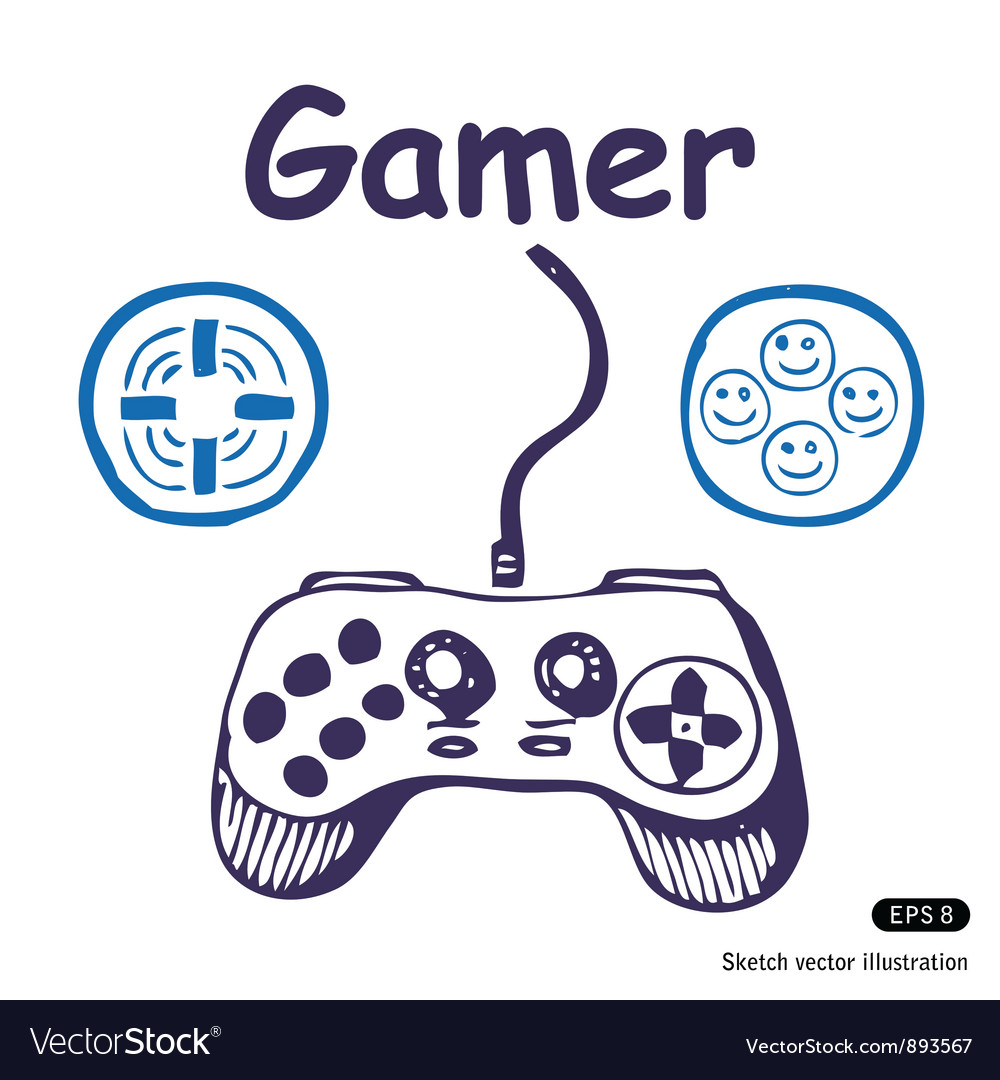 Gamepad and multiply icons vector | Price: 1 Credit (USD $1)