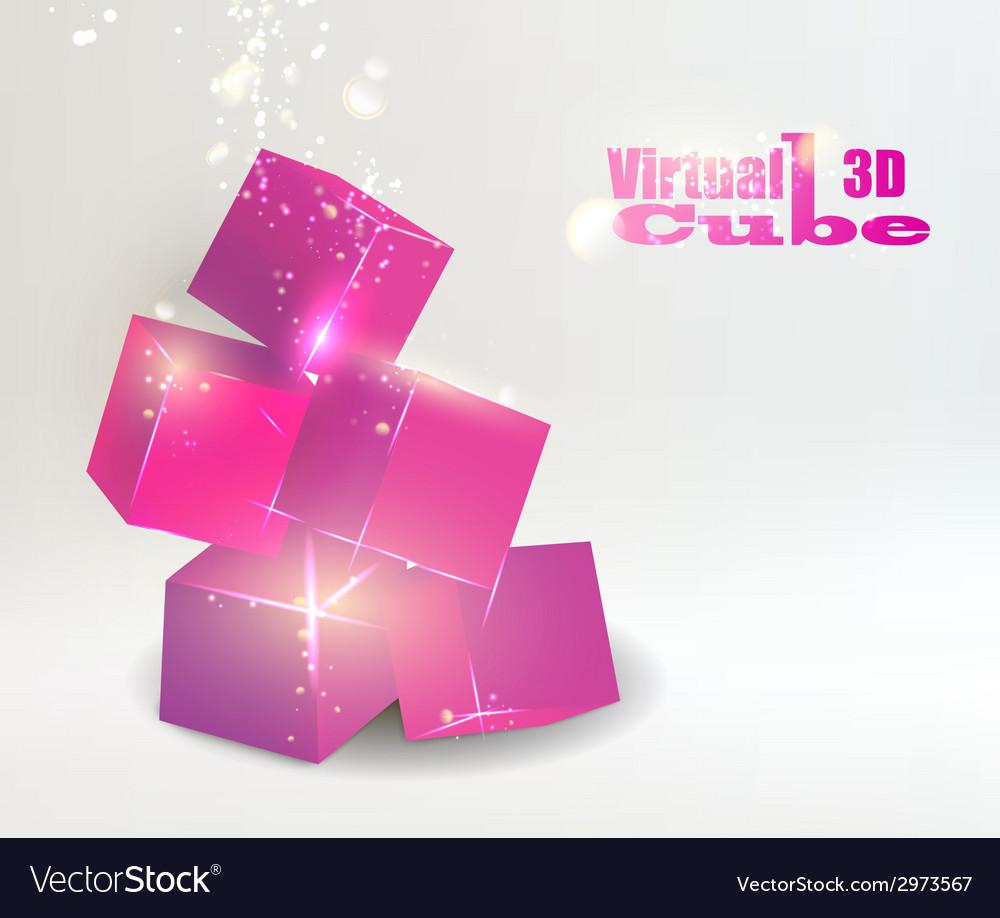 Glow box pyramid vector | Price: 1 Credit (USD $1)