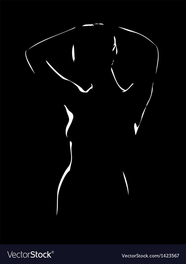 Naked body of the girl vector | Price: 1 Credit (USD $1)