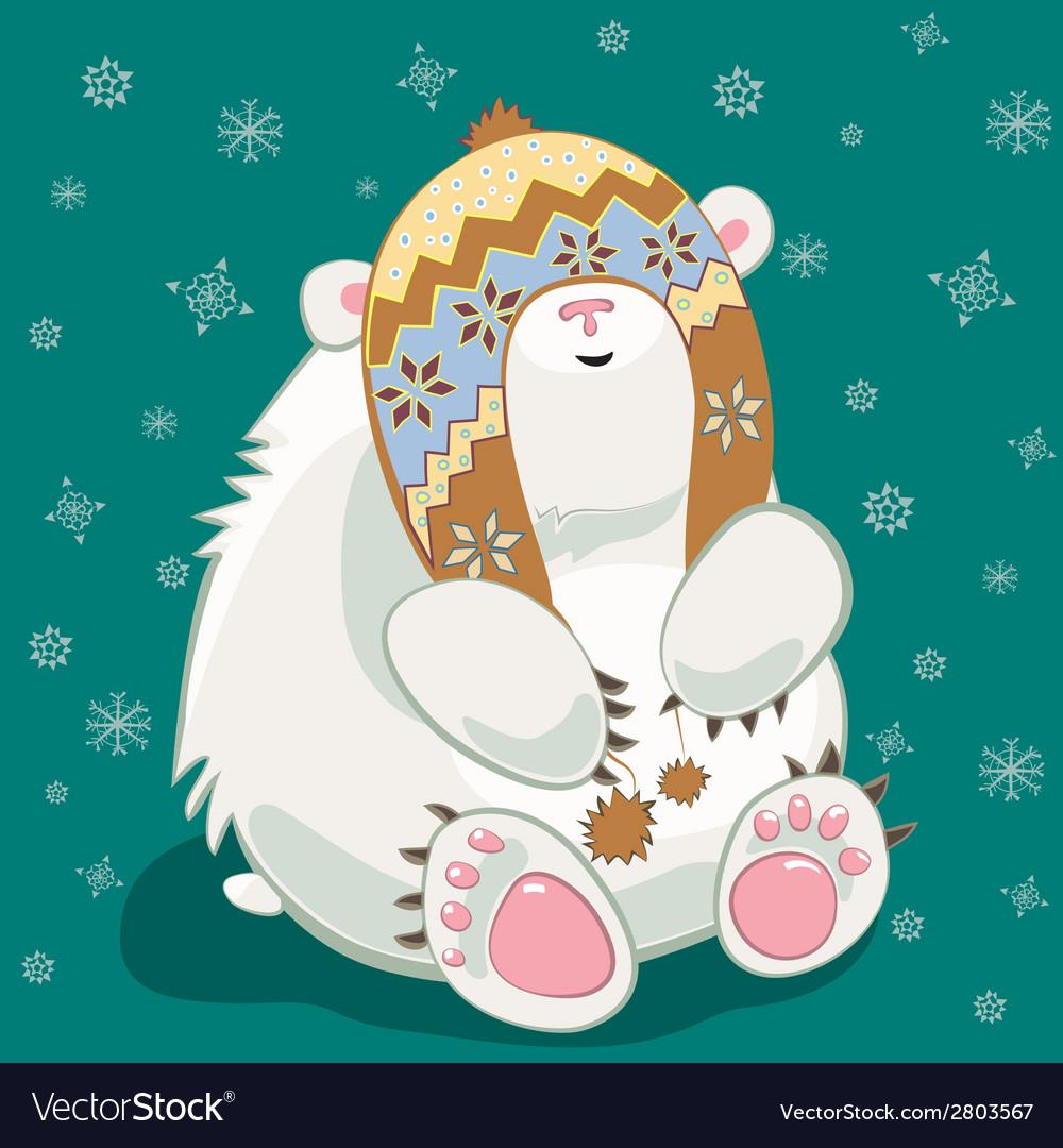 Polar bear cub vector | Price: 1 Credit (USD $1)