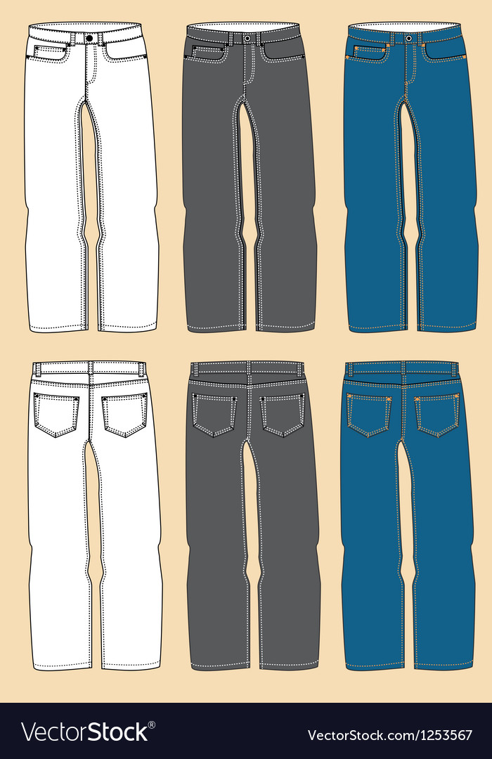 Retro jeans design vector | Price: 1 Credit (USD $1)
