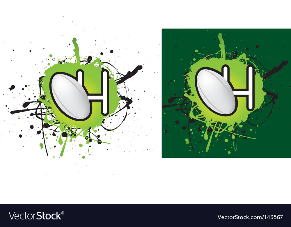 Rugby splat vector | Price: 1 Credit (USD $1)