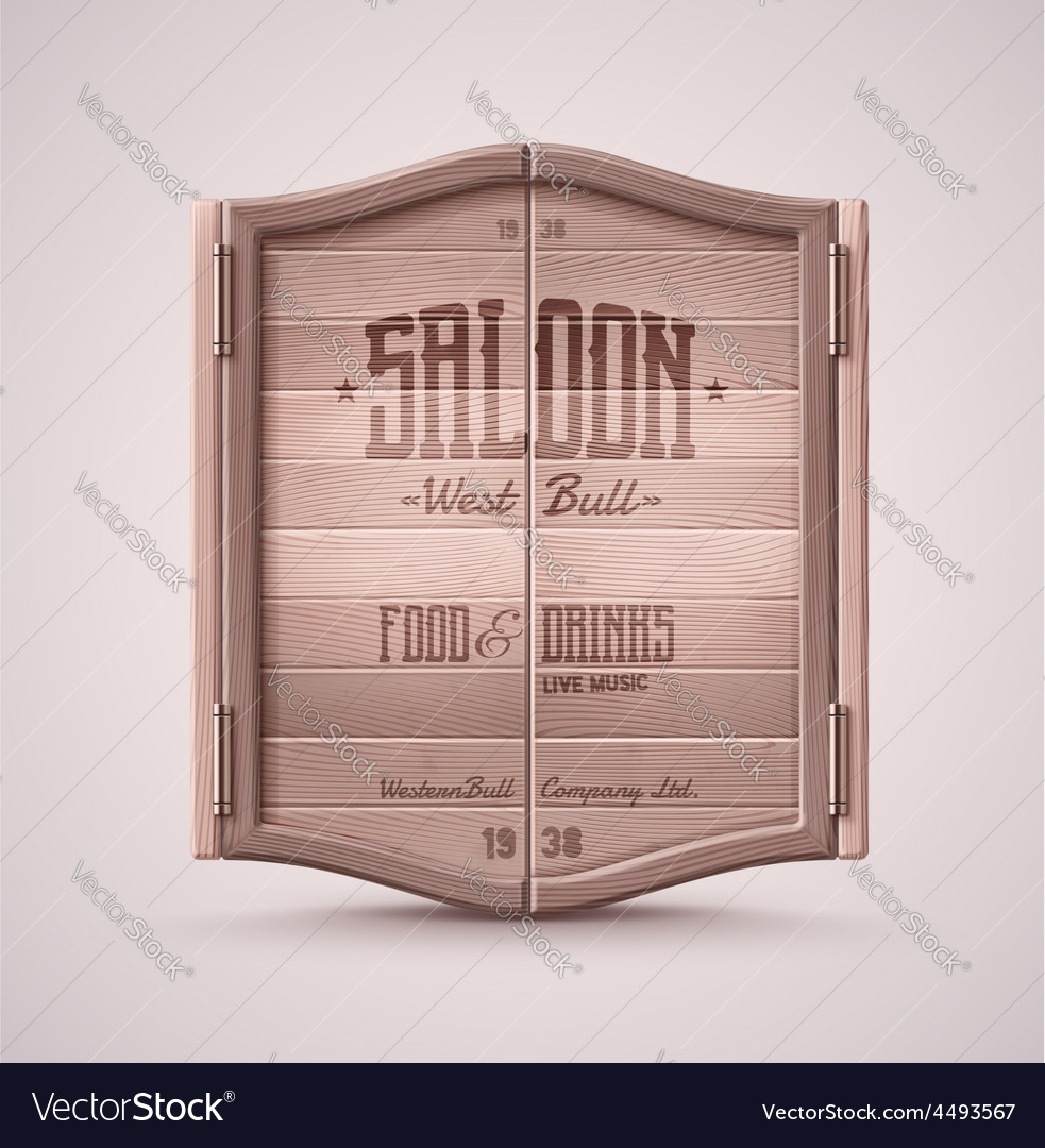 Saloon doors vector | Price: 3 Credit (USD $3)