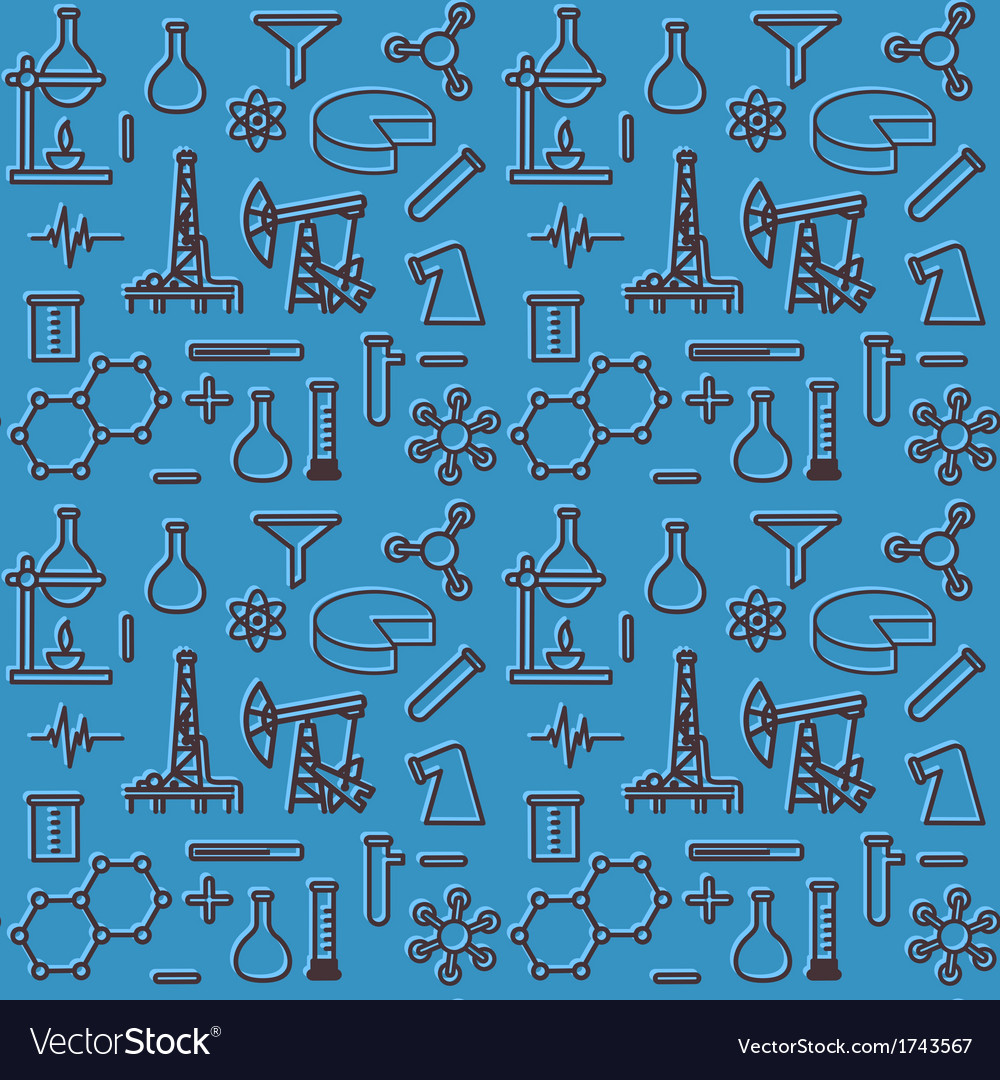Seamless pattern of scientific icons vector | Price: 1 Credit (USD $1)