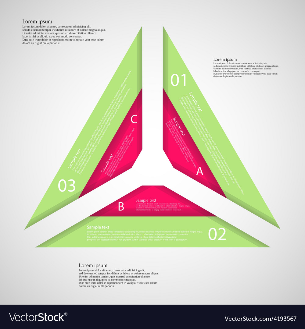 Triangle from three parts vector   Price: 1 Credit (USD $1)
