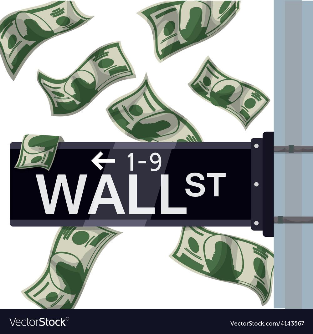 Wall street design vector | Price: 1 Credit (USD $1)