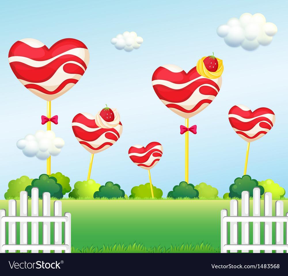 A garden full of lollipops vector   Price: 1 Credit (USD $1)