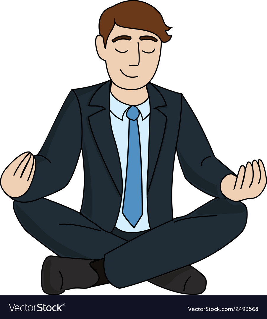 Businessman is meditating vector | Price: 1 Credit (USD $1)