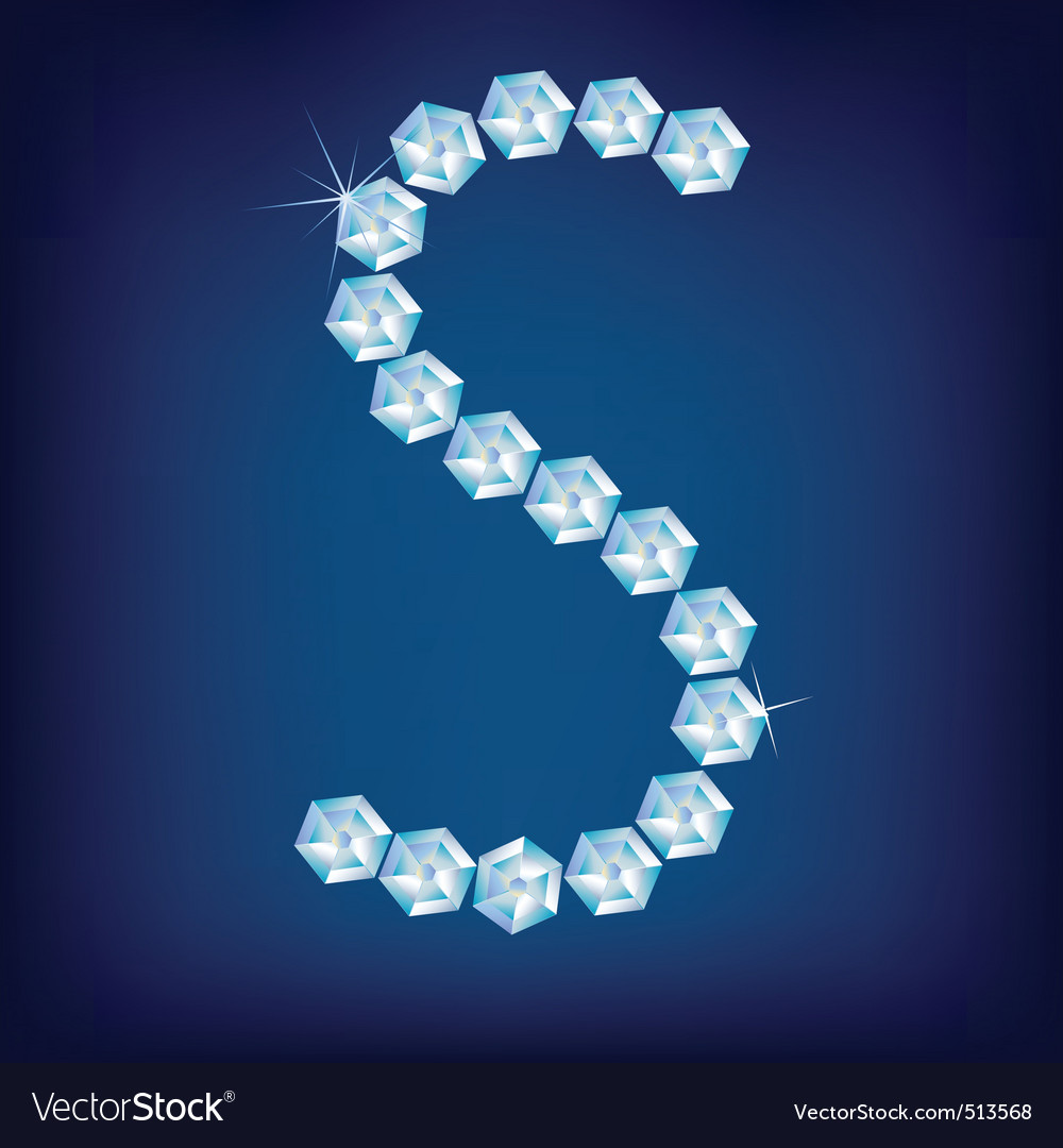 diamond alphabet lette s vector | Price: 1 Credit (USD $1)
