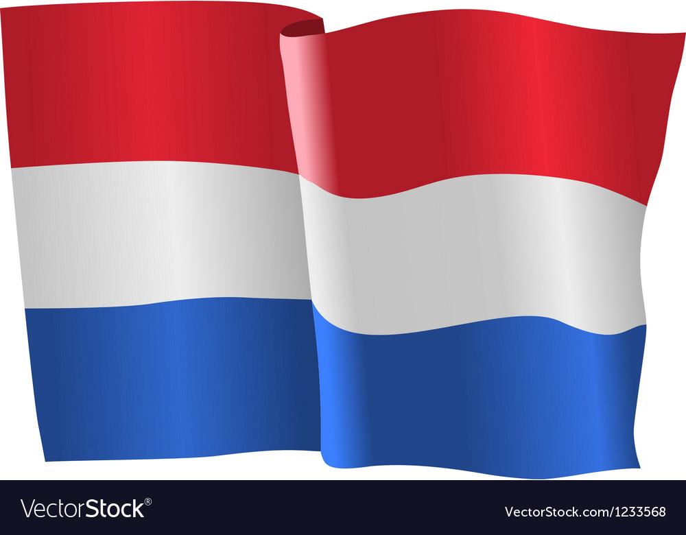 Flag of netherlands vector | Price: 1 Credit (USD $1)