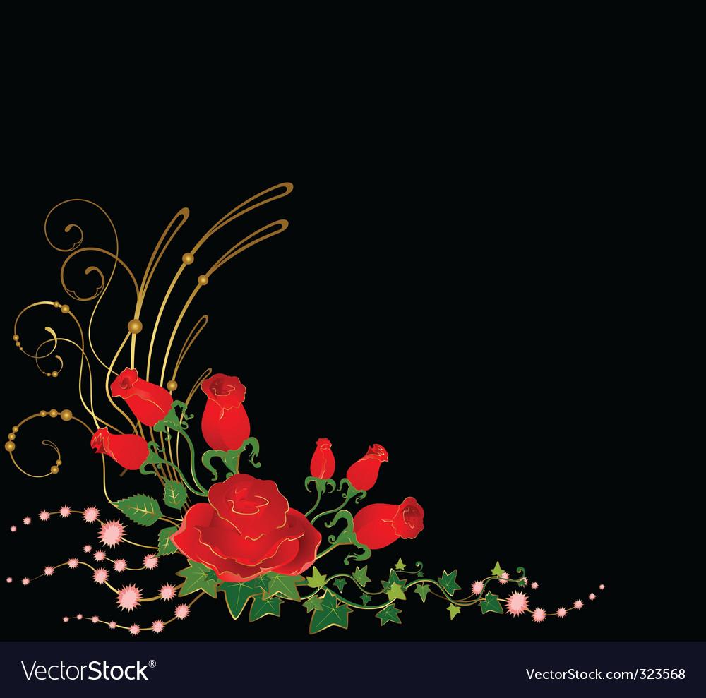 Floral border vector   Price: 1 Credit (USD $1)