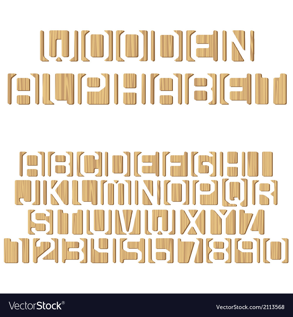 Wooden alphabet vector | Price: 1 Credit (USD $1)