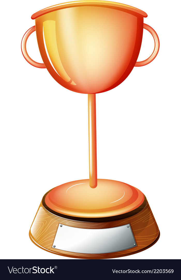A trophy with an empty label vector | Price: 1 Credit (USD $1)