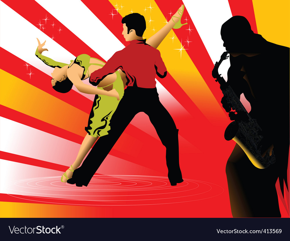 Dance silhouette vector | Price: 1 Credit (USD $1)