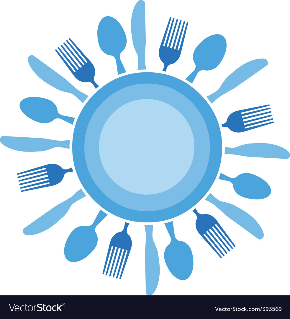 Dinner table setting vector | Price: 1 Credit (USD $1)