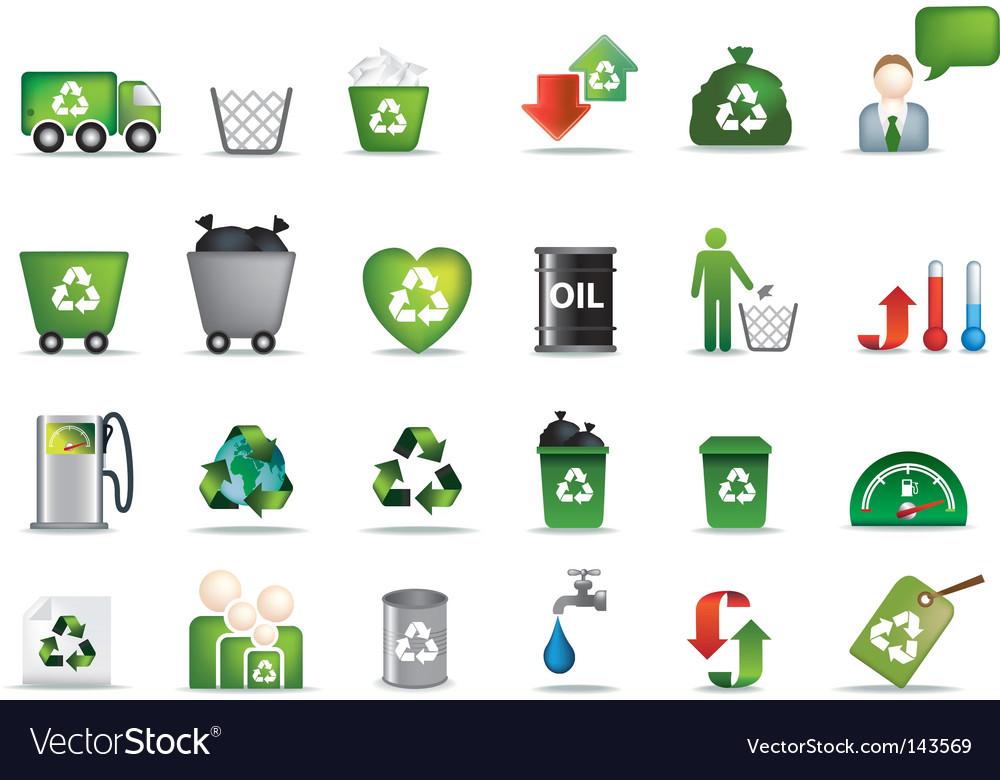 Eco icons vector | Price: 1 Credit (USD $1)