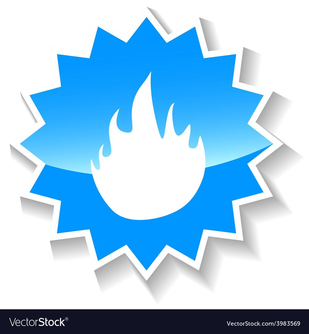 Fire blue icon vector   Price: 1 Credit (USD $1)