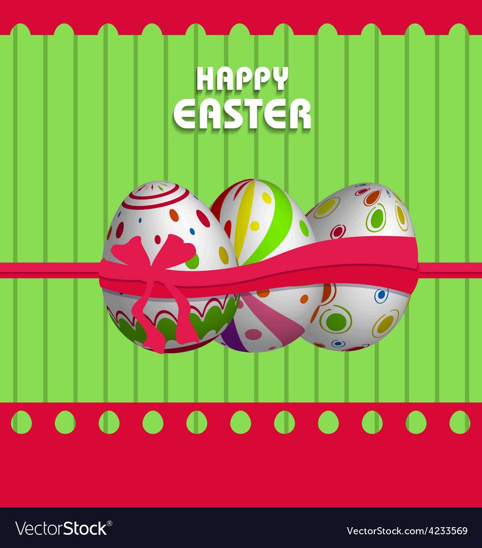 Happy easter eggs vector | Price: 1 Credit (USD $1)