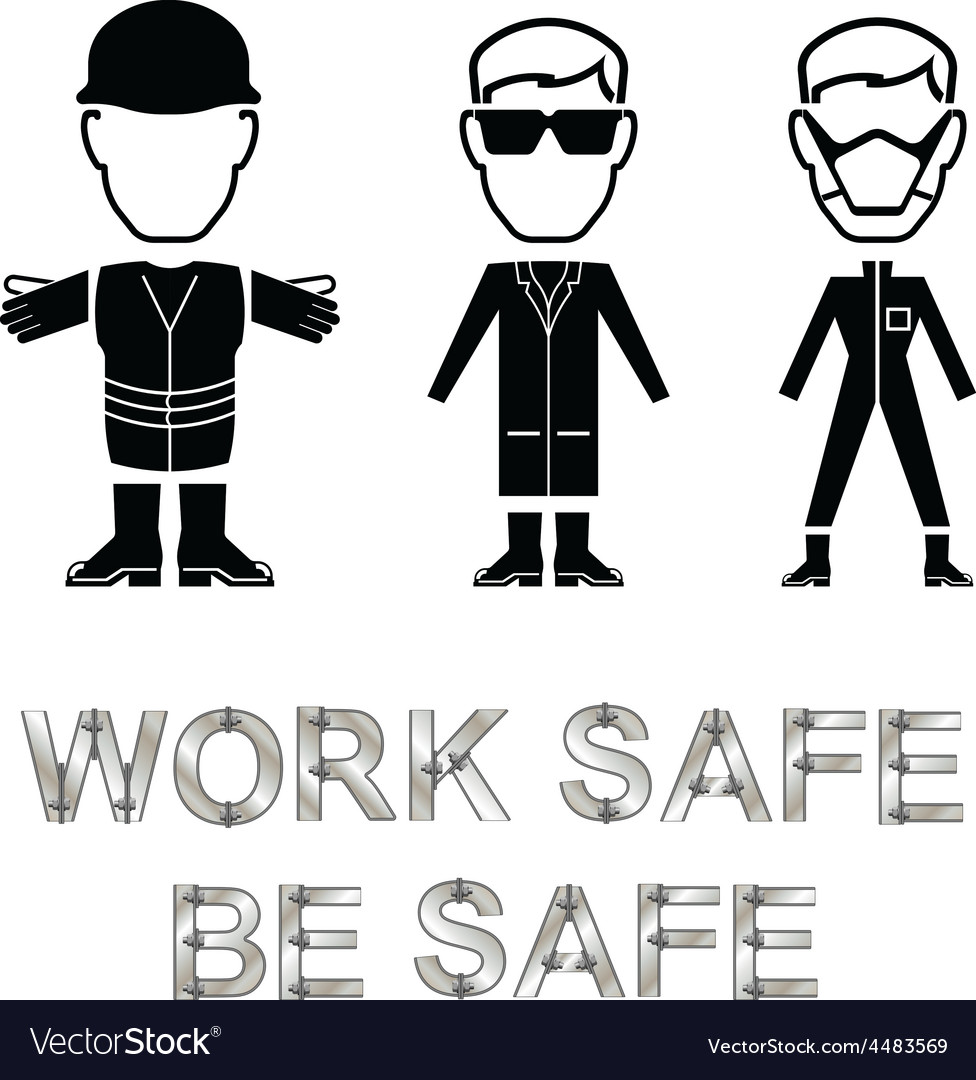 Health and safety message vector | Price: 1 Credit (USD $1)