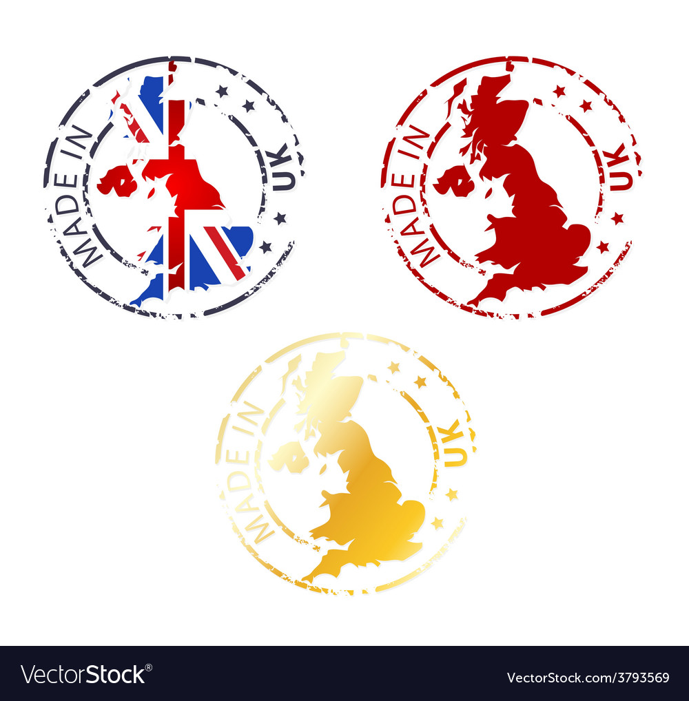 Made in uk stamp vector | Price: 1 Credit (USD $1)