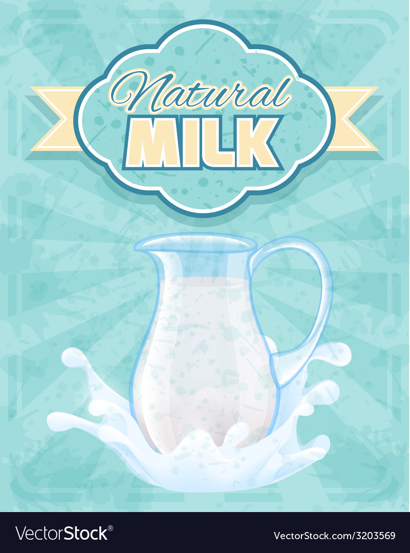 Milk pitcher poster vector | Price: 1 Credit (USD $1)