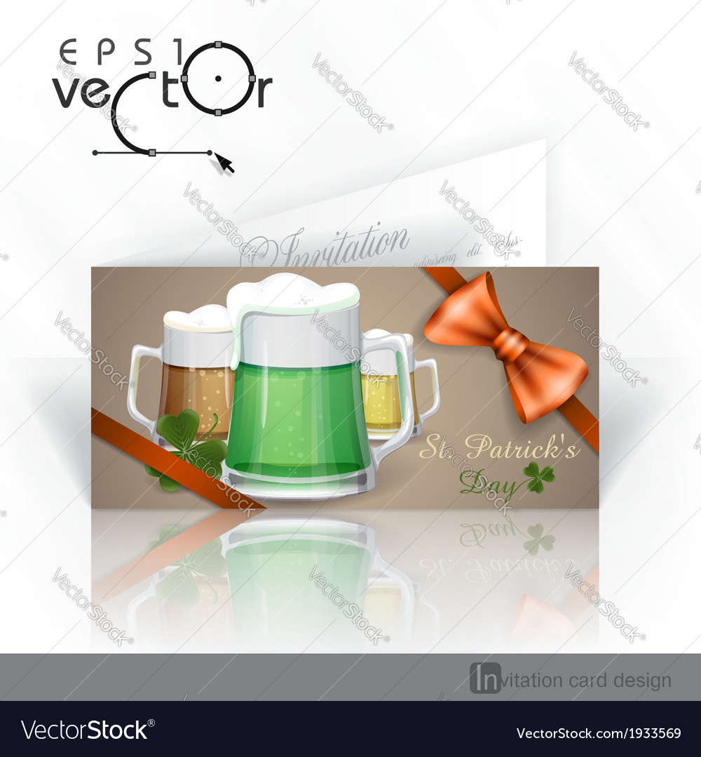 Mug of green beer for st patricks day vector | Price: 3 Credit (USD $3)